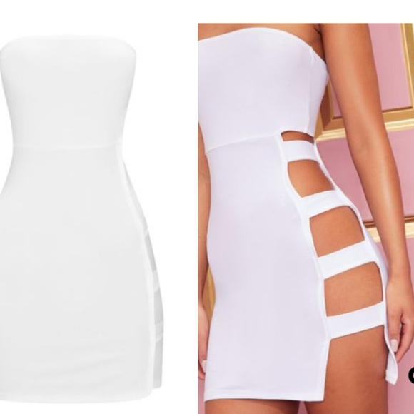 PrettyLittleThing Dresses & Skirts - White cut out bodycon dress